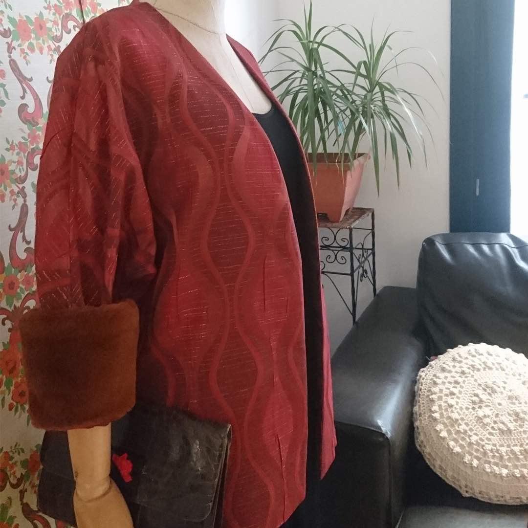 chaqueta vintage boda rojo
