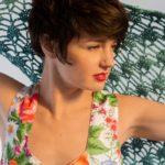OTRORA_Top tirantes flores vintage con chal de lino tejido a mano a ganchillo