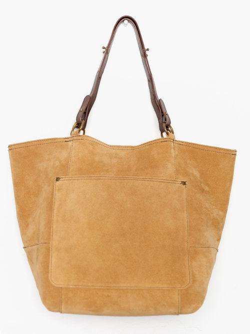 OTRORA_Maxi bolso de piel serraje con asas ajustables