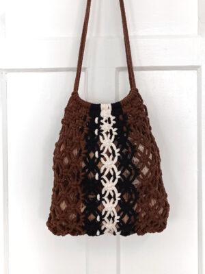 Taller de macramé para elaborar una bolsa de red tipo market bag con cuerda de algodón